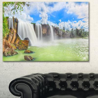 Designart Dry Nur Waterfall Landscape Photo CanvasArt Print