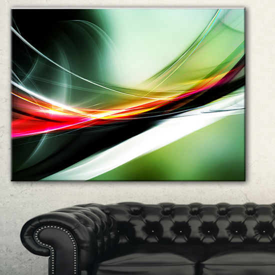 Designart Elegant Color Pattern Abstract Canvas Art Print