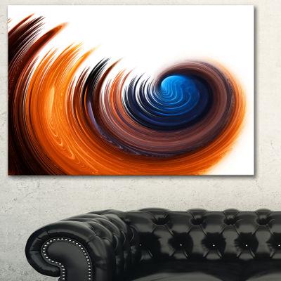 Designart Elegant Spiral Design Abstract Canvas Art Print - 3 Panels