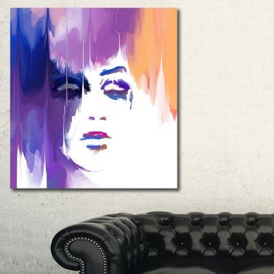Designart Elegant Woman Sensual Canvas Art Print-3Panels