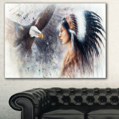 Designart Enchanting Mystical Priestess AbstractWoman Canvas Art Print