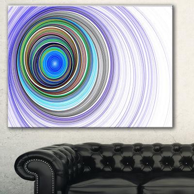 Designart Endless Tunnel Purple Ripples AbstractCanvas Art Print - 3 Panels