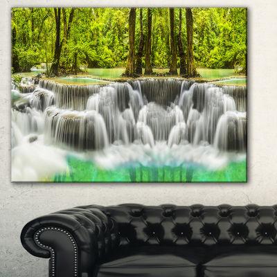 Designart Erawan Waterfall Kanchanaburi ProvinceCanvas Print