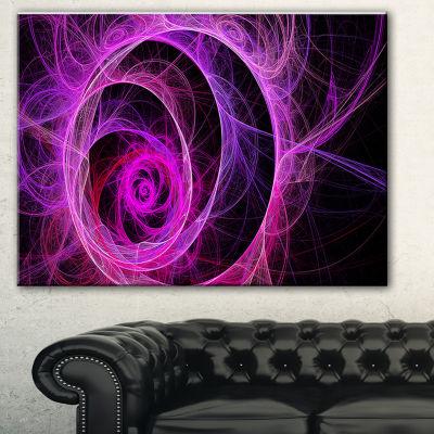 Designart Exotic Pink Flower Floral Art Canvas Print