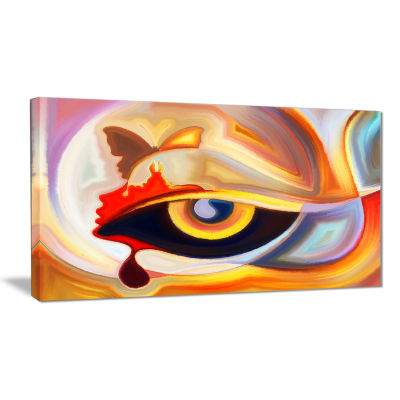Designart Eye S Intuition Abstract Canvas Art Print