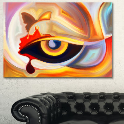 Designart Eye S Intuition Abstract Canvas Art Print - 3 Panels