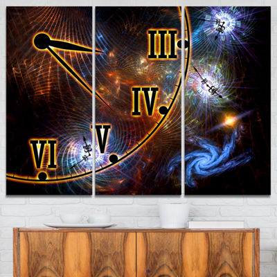 Designart Fabric Of Space And Time Abstract CanvasArt Print - 3 Panels
