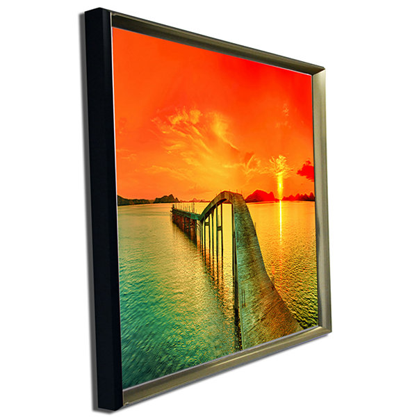 Designart Fabulous Sunset Panorama Photography Seascape Canvas Print