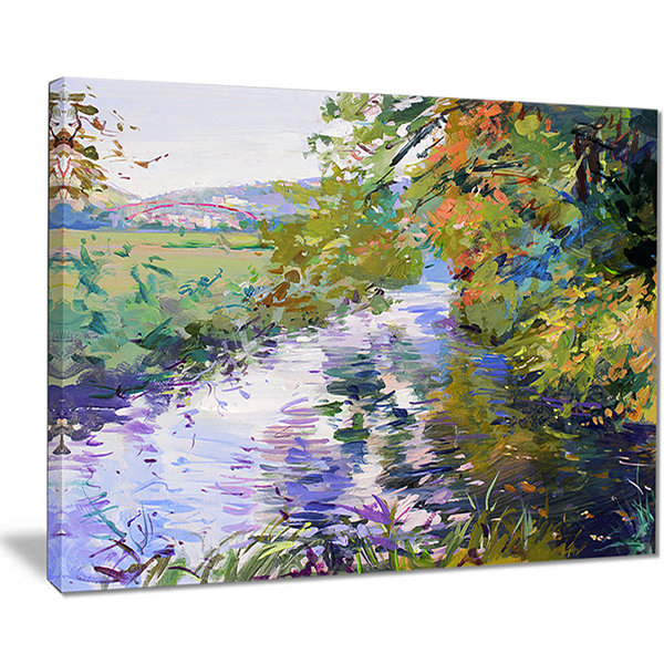 Designart Fall In Amazing Colors Landscape Painting Canvas Print