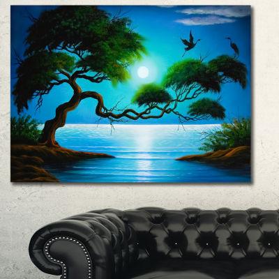 Designart Fantasy Tree Landscape Canvas Art Print