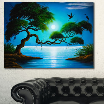 Designart Fantasy Tree Landscape Canvas Art Print-3 Panels
