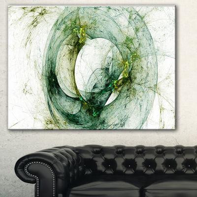 Designart Far Spherical Galaxy Brown Abstract Canvas Art Print - 3 Panels