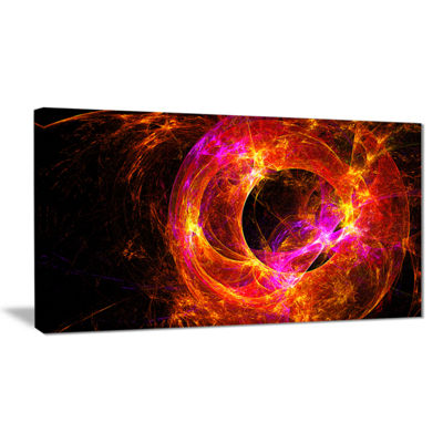 Designart Far Spherical Galaxy Red Abstract CanvasArt Print