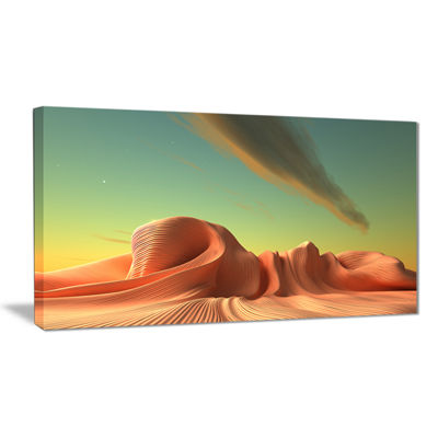 Designart 3D Alien World Surreal Fantasy Contemporary Artwork