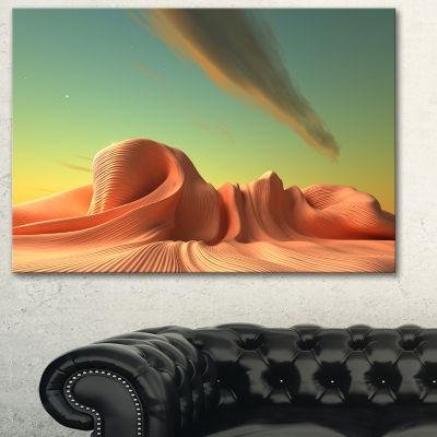 Designart 3D Alien World Surreal Fantasy Contemporary Artwork - 3 Panels