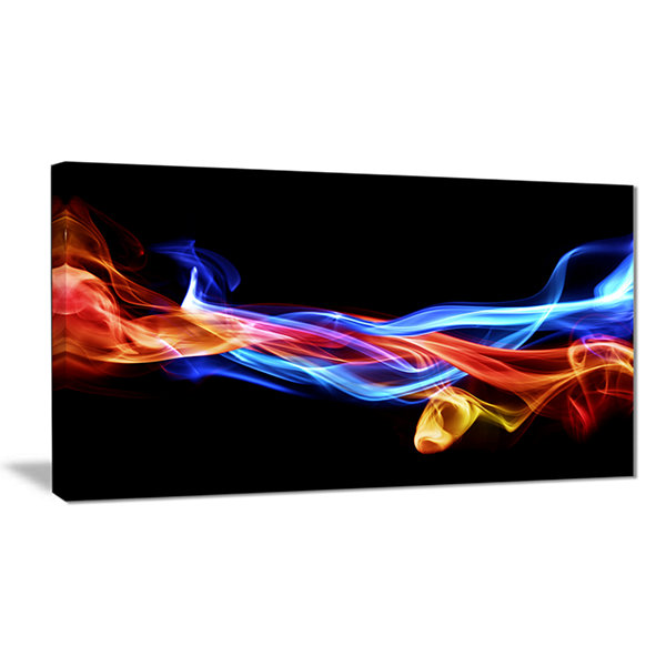 Designart Fire And Ice Design Abstract Abstract Print On Canvas
