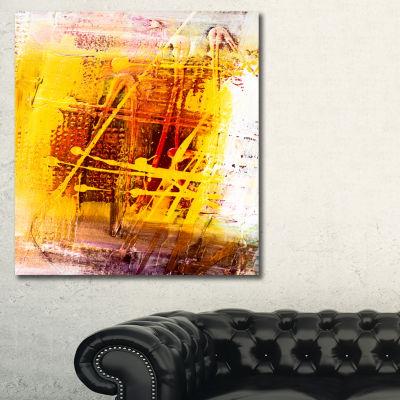 Designart Abstract Buddha Art Abstract Canvas ArtPrint - 3 Panels