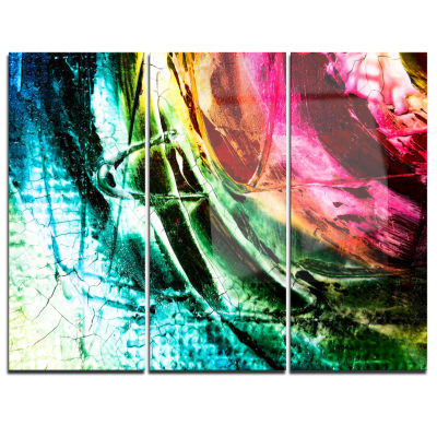Designart Abstract Buddha Buddhism Abstract CanvasArt Print - 3 Panels