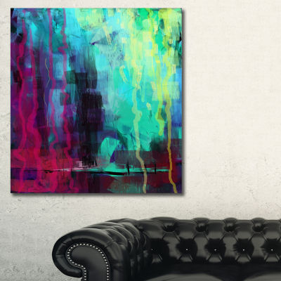 Designart Abstract Digital Painting Abstract Canvas Art Print