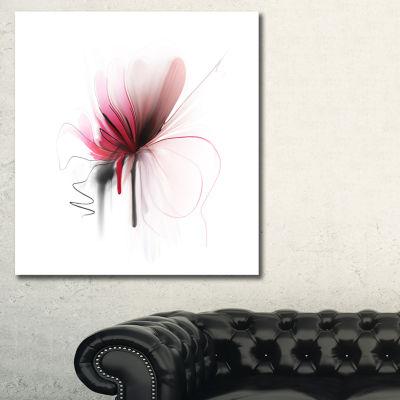 Designart Abstract Flower Floral Art Canvas Print- 3 Panels