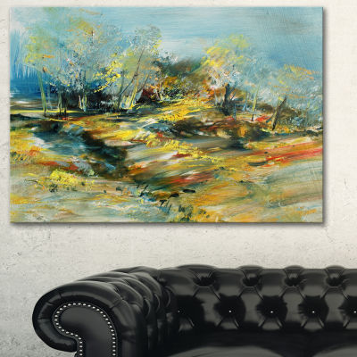 Designart Abstract Landscape Abstract Canvas ArtPrint - 3 Panels