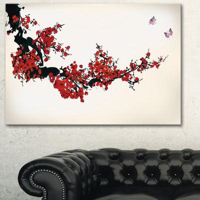 Designart Floral Winter Sweet Floral Art Canvas Print