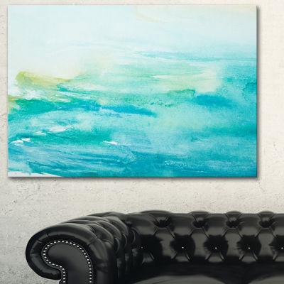 Designart Abstract Sea Close Up Abstract Canvas Art Print - 3 Panels