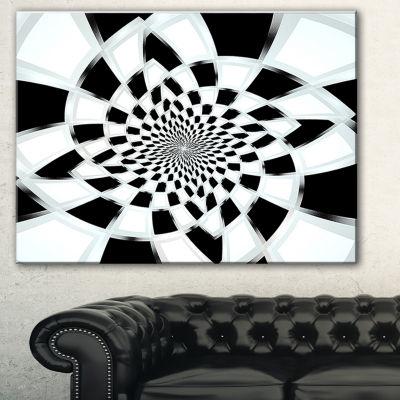 Designart Abstract Spiral Fractal Design AbstractCanvas Art Print - 3 Panels
