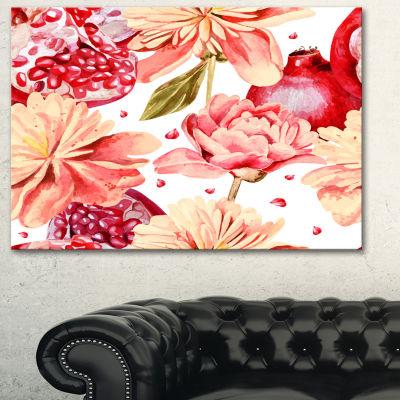 Designart Flowers Beyond The Edges Floral Art Canvas Print - 3 Panels