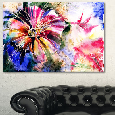 Designart Flowers In A Collage Floral Art Canvas Print