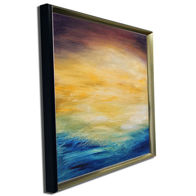 Designart Abstract Water Sunset Abstract Canvas Print