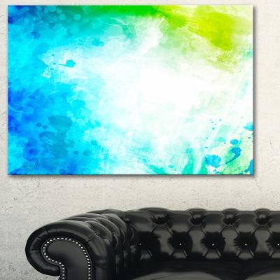Designart Abstract Watercolor Art Abstract CanvasArtwork
