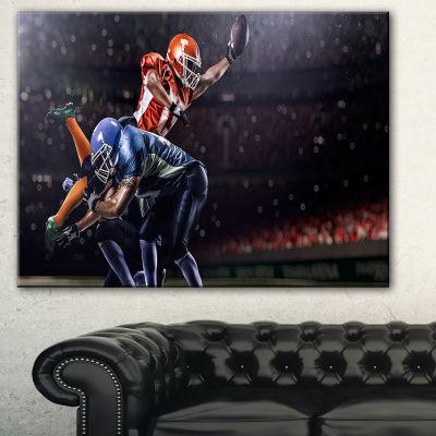 Designart Footballers In Action Sport Canvas Art Print