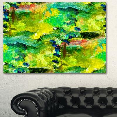Designart Africa Green Texture Abstract Canvas ArtPrint