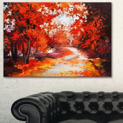 Designart Forest In The Fall Landscape Art PrintCanvas