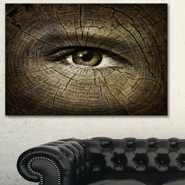 Designart Aging Eyes Abstract Canvas Art Print