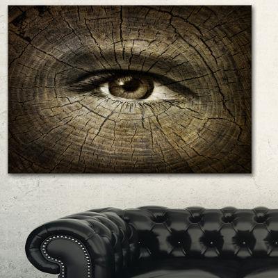 Designart Aging Eyes Abstract Canvas Art Print -3Panels