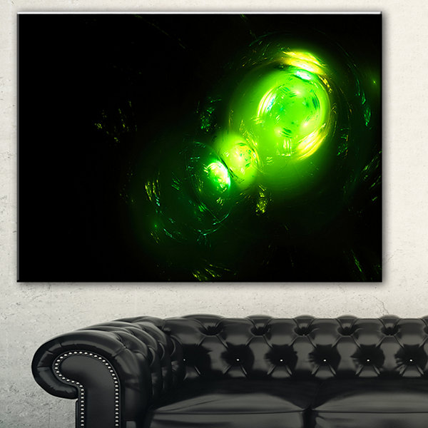Designart Air Bubbles Under Water Abstract CanvasArt Print - 3 Panels