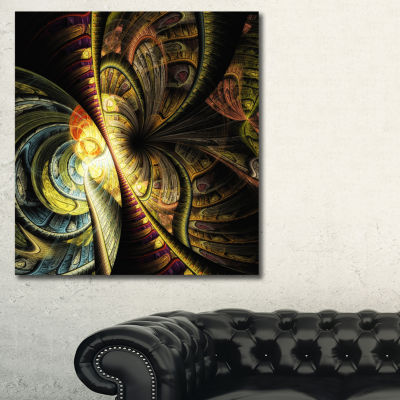 Designart Fractal Illustration Abstract Art Print
