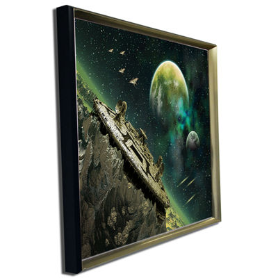Designart Alien Planet Abstract Canvas Art Print