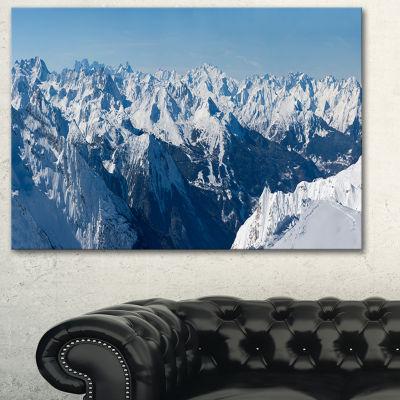 Designart French Alps Panorama Photography CanvasArt Print - 3 Panels