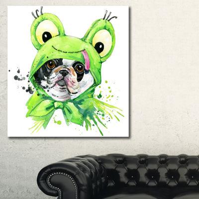 Designart French Bulldog Illustration Animal Art Painting