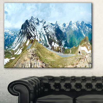 Designart Alps Summer Panorama Photography CanvasArt Print