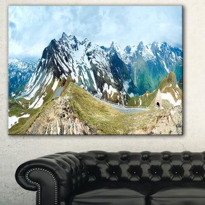 Designart Alps Summer Panorama Photography CanvasArt Print - 3 Panels