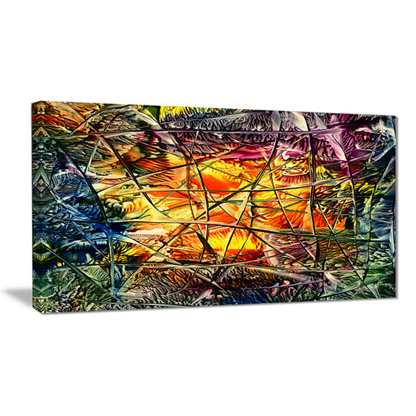 Designart Amber Abstract Abstract Canvas Artwork