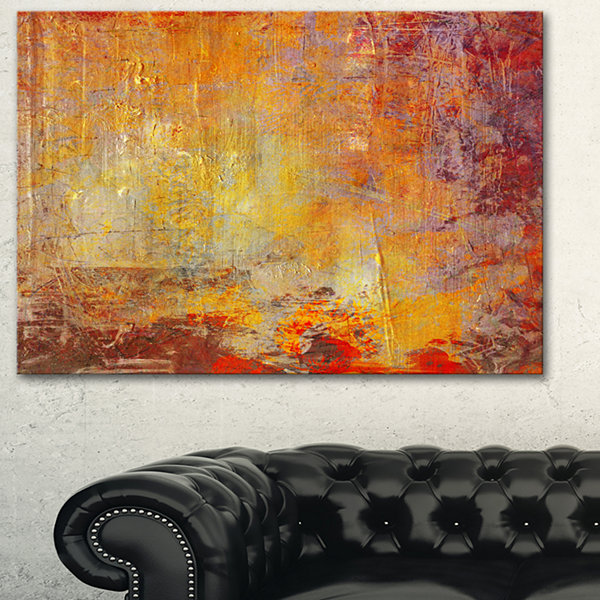 Designart Ambient Canvas Grunge Abstract Canvas Art Print