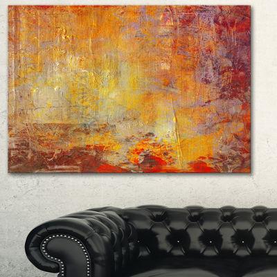 Designart Ambient Canvas Grunge Abstract Canvas Art Print - 3 Panels