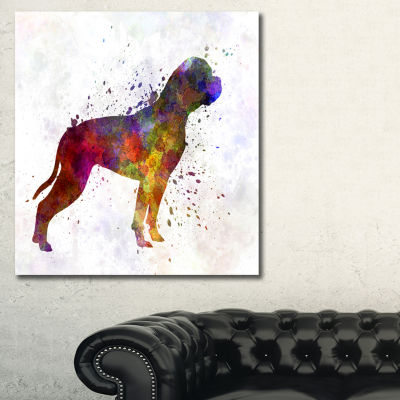 Designart American Bulldog Animal Art Painting