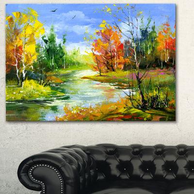 Designart Fusion Of Autumn Shades Landscape Art Print Canvas