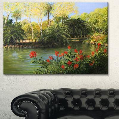 Designart Garden Of Eden Landscape Canvas Art Print - 3 Panels